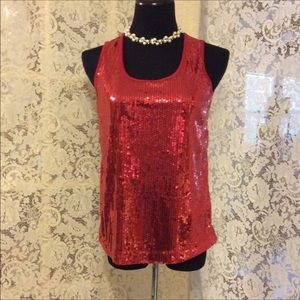 Slinky Brand Sequined top